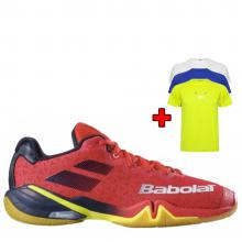 Babolat Shadow Tour Men Red 2019 - bonus funkční tričko